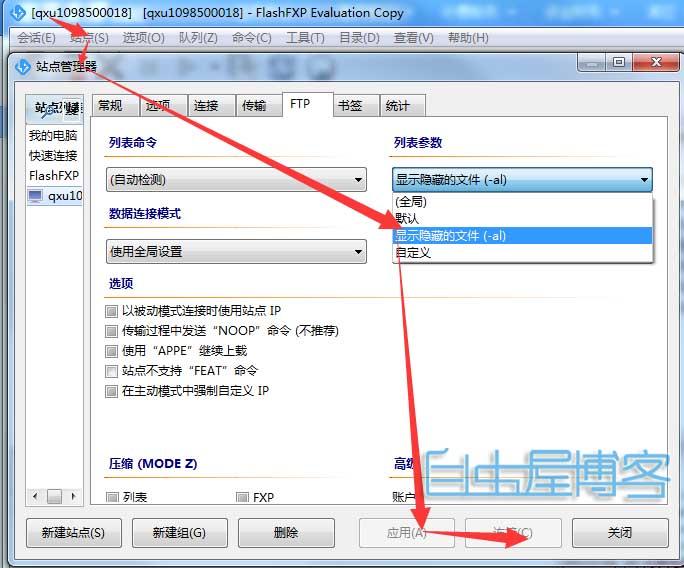 网站.htaccess不显示及常见FTP设置方法